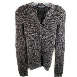 Dolce & Gabbana pullover buttoned wool sweater 40
